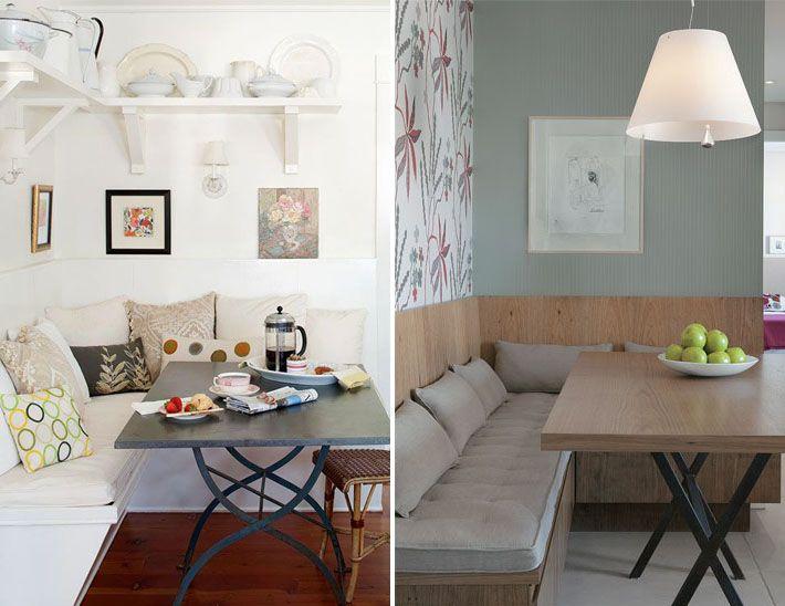 Banco De Sala De Jantar ~ Canto alemão, banco ou sofá na sala de jantar  Quartos, Mesas e Ems