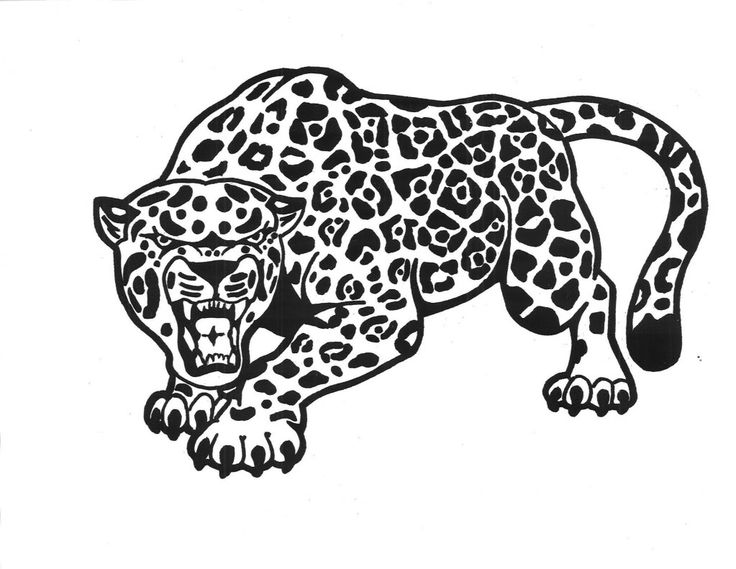 Jaguar Logo Coloring pages to print, Coloring pages