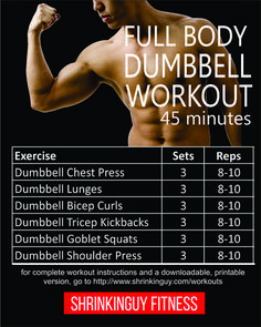45 minute full body dumbbell workout for beginners  full