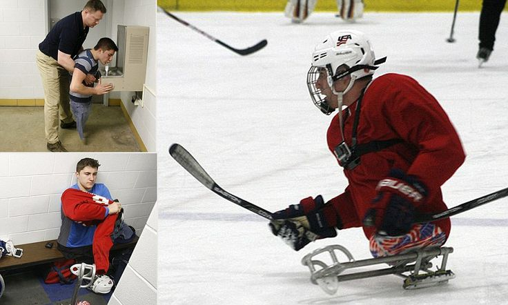 Olympic dreams: Teenager who was born without legs and is the youngest athlete on the U.S. Paralympic hockey team is a shining star as he goes for gold in Sochi.      Brody Roybal was born with no legs but found sled hockey was his passion at the age of seven     By age 12, Roybal was so good that he started playing with an adult team.     Now Roybal is the youngest U.S. Paralympic athlete.     The team is the subject of a PBS documentary called Ice Warriors that begins airing Monday.<3