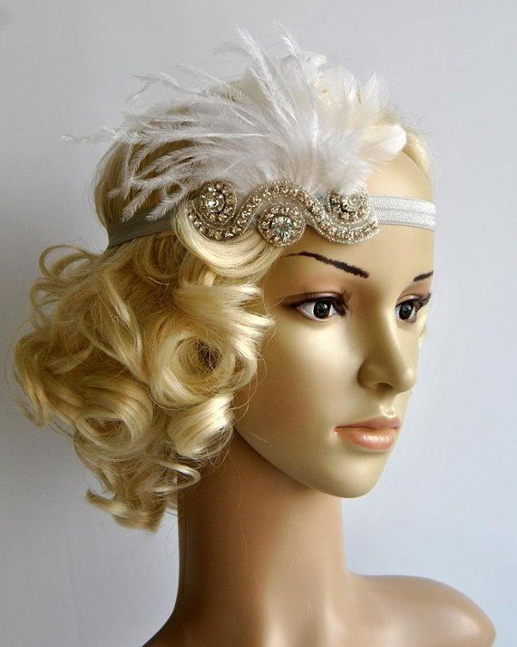 The Great Gatsby20 s flapper Headpiece Vintage Inspired  cef9339579df
