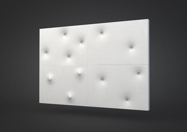 Button concrete wall tiles