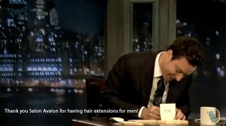Gotta love Jimmy Fallon and his 'Thank You Notes'. Schedule an appointment with Misty today! #hairextensionsbillingsmt #hairextenstionsformenbillingsmt #salonavalon #hairstylistbillingsmt