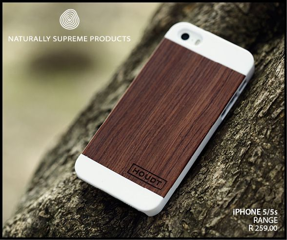 iPhone 5S Walnut Wood Case.  #WoodeniPhoneCase #Houdt #Wood  http://www.houdt.co.za/collections/iphone-5/walnut-wood-white