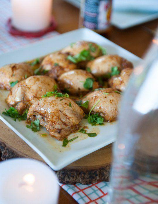 Receita para uma multidão: Honey & Coxas de frango com molho cremoso de pimentão Coentro