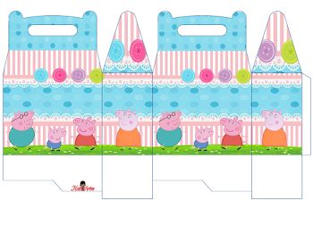 Peppa Pig with her Family: Free Printable Lunch Box.