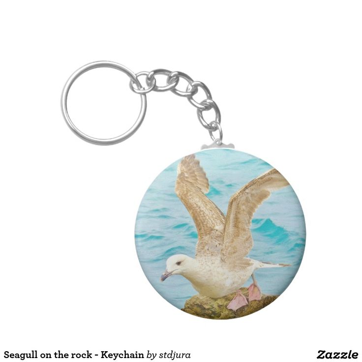 Seagull on the rock - Keychain