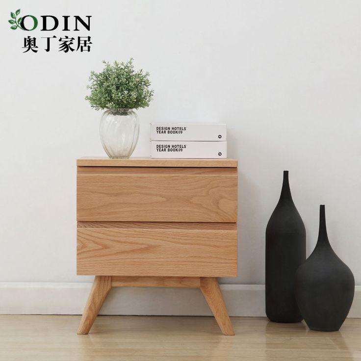 實木儲物櫃原木色簡約現代日式北歐地中海風格家具muji橡木床頭櫃 淘寶網 Hdb Bedroom