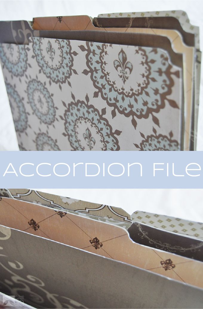 DIY Accordion File | In The Next 30 Days