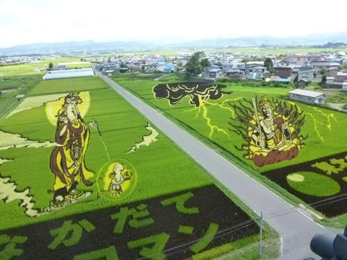 Rice paddy art ,Inakadate, Aomori ,JAPAN http://en.wikipedia.org/wiki/Rice_paddy_art  /   田んぼアート【田舎館村】|青森県観光情報アプティネットaptinet http://www.aptinet.jp/ap_mftbf120910.html