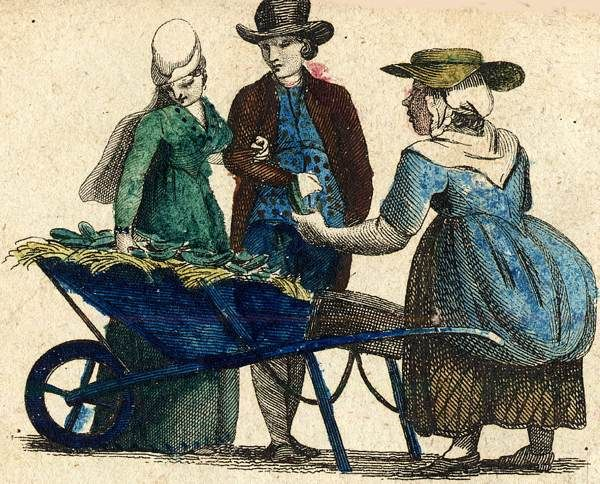 Cries of London, illustrated 1803 from Spitalsfield blog Green Cucumber