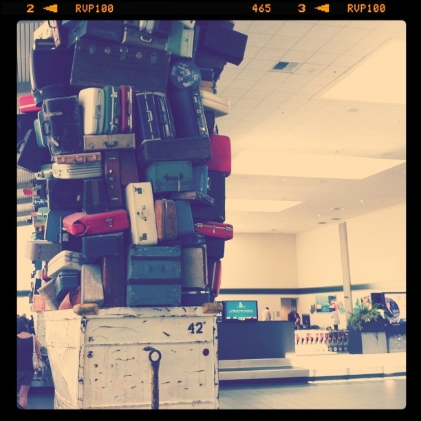 Excess baggage fees? What are those again? #luggage #suitcases #travel #airport