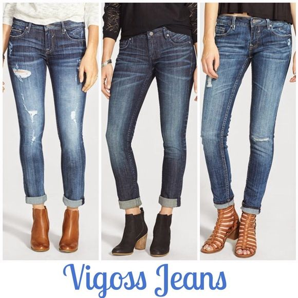 ✨NEW✨HP {Vigoss Skinny Jeans} Size 9 Washed, but never worn! Inseam 29 inches. Fabulous Stylish Jeans! The pair in the Middle in 1st picture (stock photo).                                                                                                    HOST PICK 04/10 by @bebe70024 THANK YOU!   Smoke Free Home & Fast Shipping  Vigoss Jeans Skinny