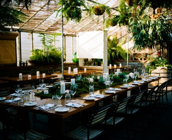 The normal dining room at Terrain turned into the reception space!