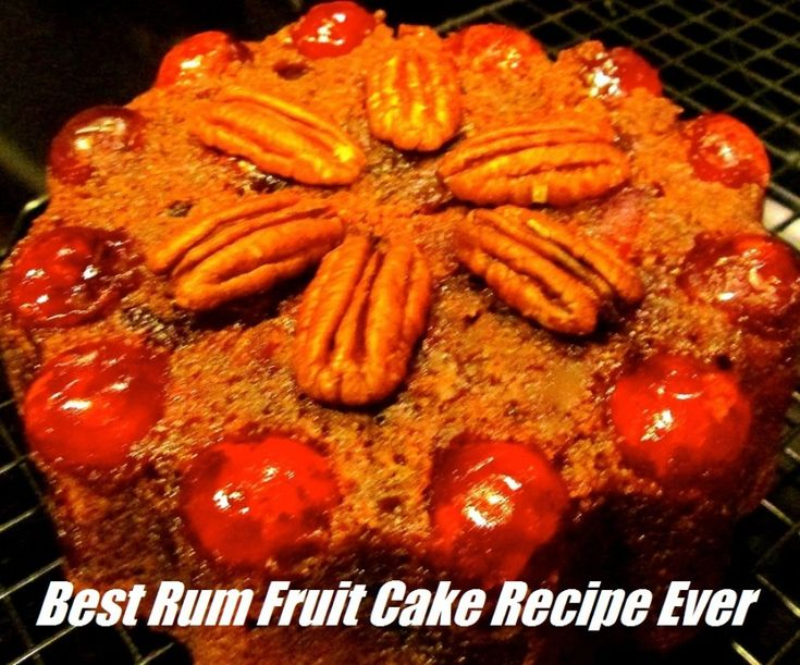 A fabulous rum fruit cake recipe for Christmas and red Valentine's Day heart-shaped desserts. I was not a fruit cake fan, but now I am! Rum and brandy make a difference. Enjoyable desserts by all.