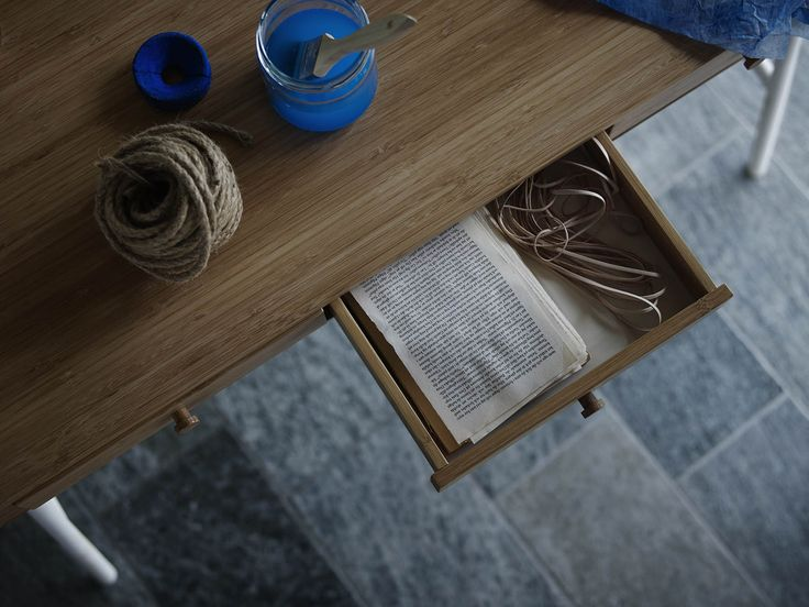 LILLÅSEN bureau | #IKEA #IKEAnl #werken #werkbank #bamboe #schilderen #atelier #lade