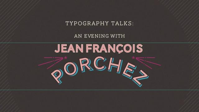 Typography Talks:  Jean François Porchez by AIGA Los Angeles. Join us for cocktails and an international tray of appetizers as Porchez shares his experiences as graphic designer turned type designer turned type director. Porchez is an honorary President of the Association Typographique Internationale, and has received numerous awards including the Prix Charles Peignot (1998), awards from the Bukva:raz international competition (2001) and the Creative Review Type Awards (2006) as well as a…