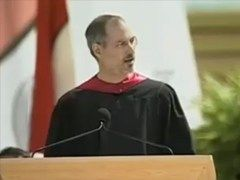 At his Stanford University commencement speech, Steve Jobs, CEO and co-founder of Apple and Pixar, urges us to pursue our dreams and see the opportunities in life's setbacks — including death itself.