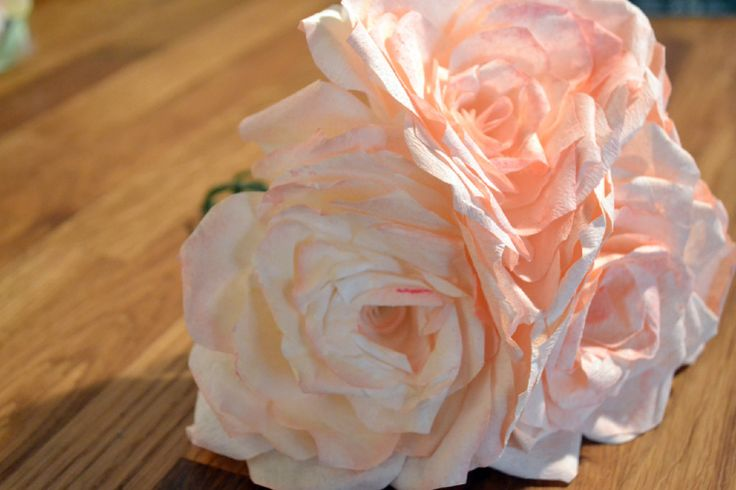 DIY - Paper Roses (Using Coffee Filters)