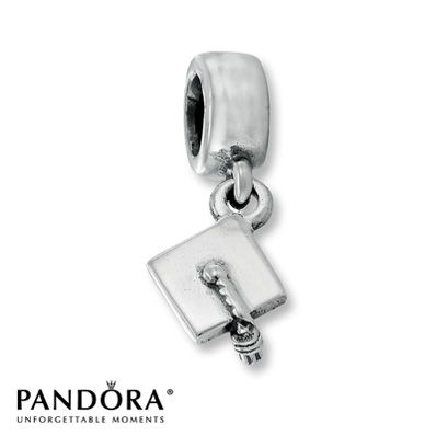 Lord, let 2015 be the year I can get this charm! LOL!  #thePoshLife  Pandora Dangle Charm Graduation Hat Sterling Silver