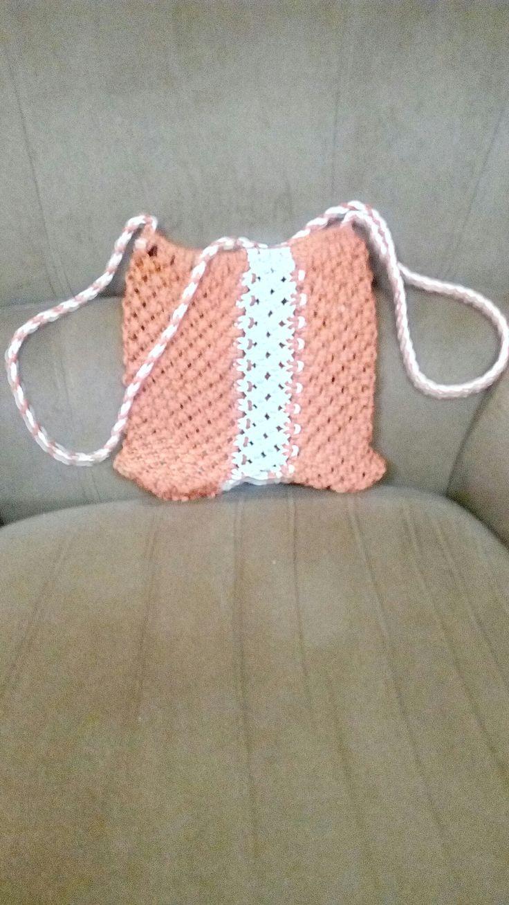 White and orange sling