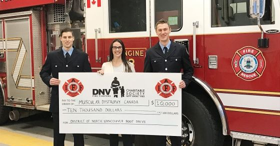 Firefighters raise funds for muscular dystrophy