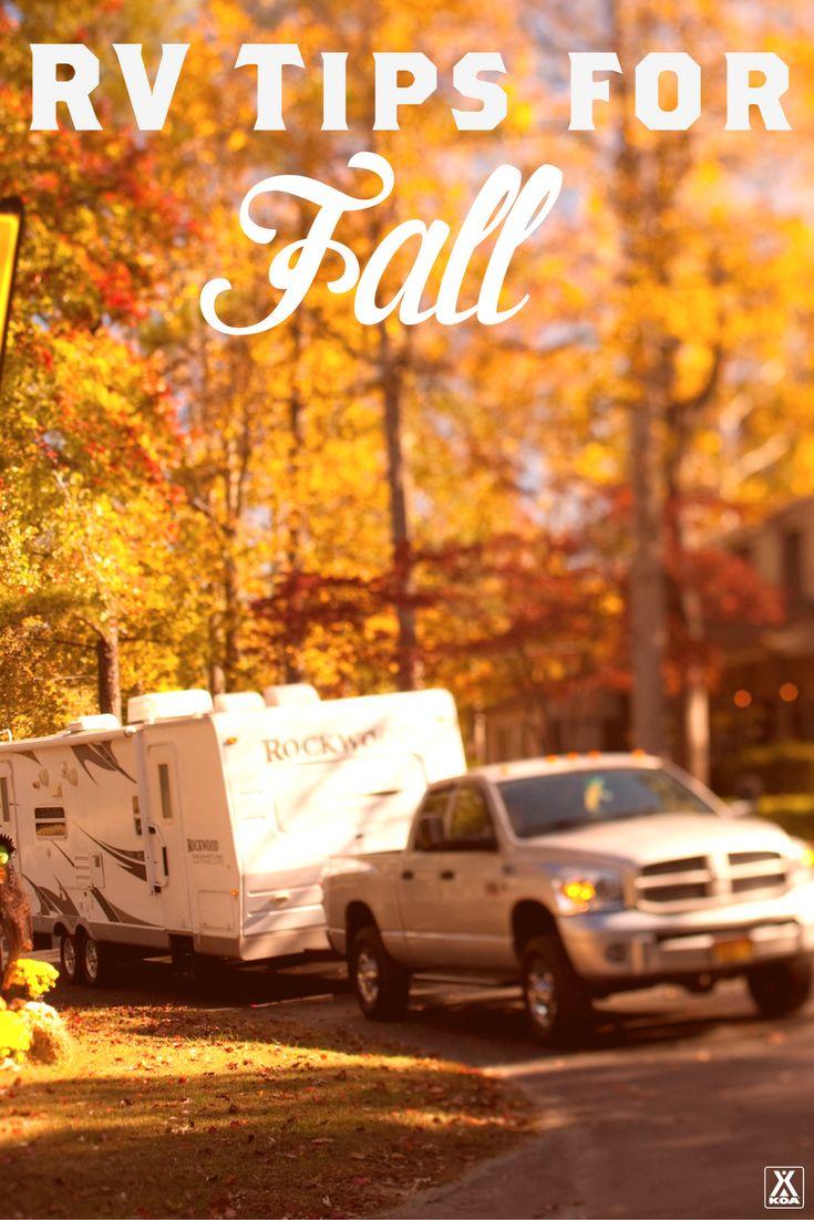 RV Tips for Fall from KOA - Experience a new season of #KOACamping