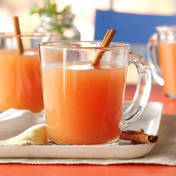 Hot Holiday Cider Recipe -This warming, slightly tart cider is perfect for a holiday open house. It fills the room with a wonderful aroma.—Cindy Tobin, West Bend, Wisconsin