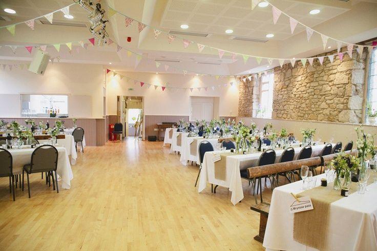 Village hall wedding reception site