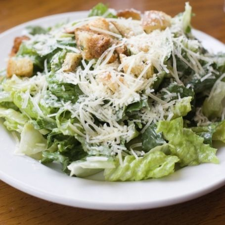 #AnnaOlson's Caesar #Salad dressing uses cooked egg yolk to create the perfect consistency.