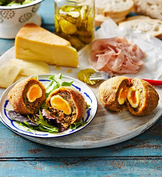 Hot Scotch eggs: Thanks to a beautifully-spiced meat casing, these Scotch eggs are given the gourmet treatment. Will one be enough? Probably not!