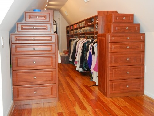 How to Convert an attic into a dressing room. Designed by California Closets