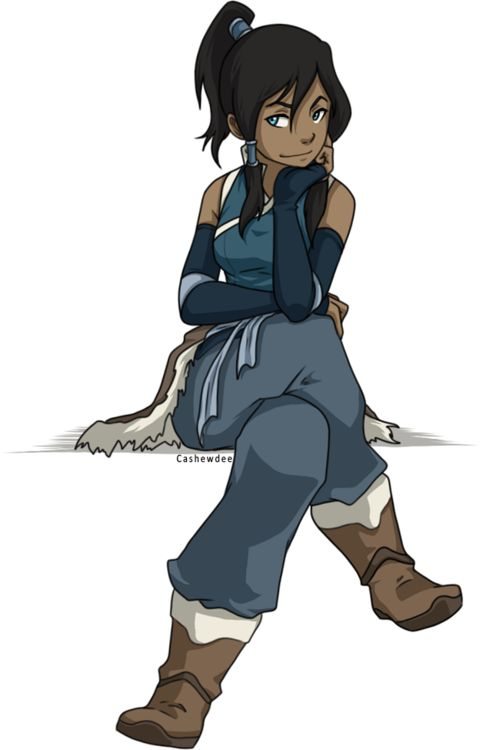 I decided that I liked Legend of Korra in the first scene when she jumps out, bending like a beast with her belly hanging out. I decided then that she was my hero.