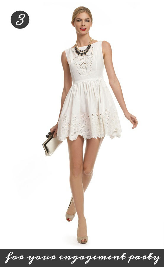 A cute, flirty dress by Opening Ceremony for the playful bride at her engagement party! Get it from Rent the Runway for only 75 dollars: www.renttherunway...Open Ceremonies, Style, Bridesmaid Dresses, Shower Dresses, Rehearsal Dinner Dresses, Bridal Shower, Playgrounds Rules, Little White Dresses, Rules Dresses