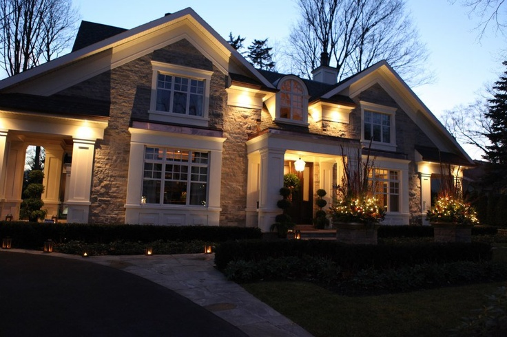 Stunning luxury home at Christmastime built by PCM - Project & Construction Management Inc  (PCM Inc)
