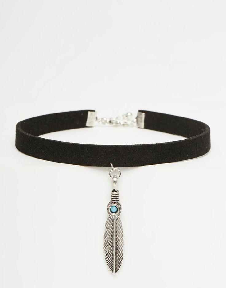 ASOS | ASOS Western Feather Choker Necklace at ASOS