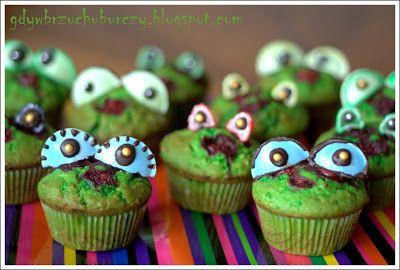Gdy w brzuchu burczy... : Muffiny zielone żaby