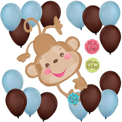 71 best images about monkey boy baby shower birthday party ideas on pinterest banana split - Monkey balloons for baby shower ...