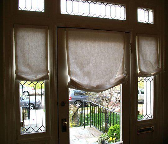 17 best ideas about Front Door Curtains on Pinterest   Door window ...