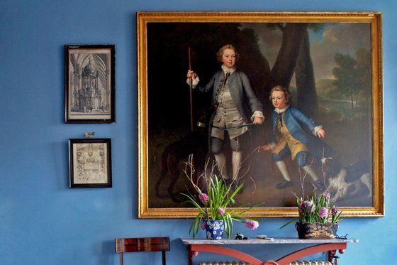 Vision in blue, £36. The decorator Edward Bulmer knows a thing or two about stately-home style: this hallway is in his own pile, the grade II* listed Court of Noke, Herefordshire. Walls are in Garter Blue emulsion, by Bulmer's natural paint firm, Pots of Paint; £36 for 2.5 litres. 01544 388535, potsofpaint.com