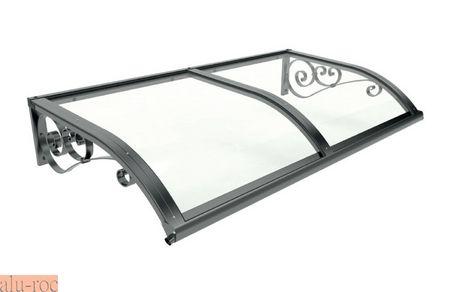 Marquesina de forja de aluminio para exteriores