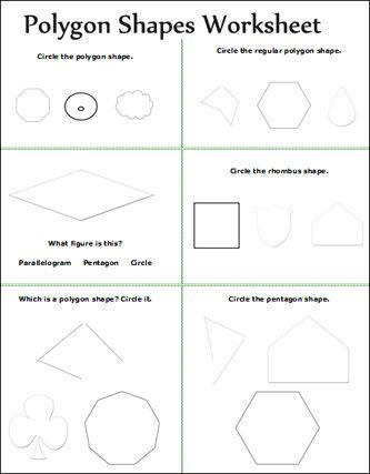 Number Names Worksheets geometry math worksheets : First grade shapes   Free printable math worksheets, fun math ...