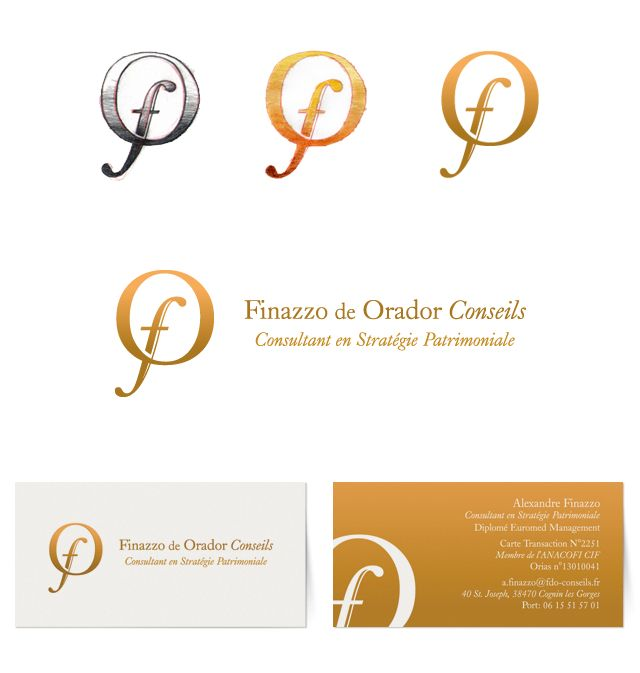 Branding and basic stationary for Finazzo de Orador Conseils Company (2013)