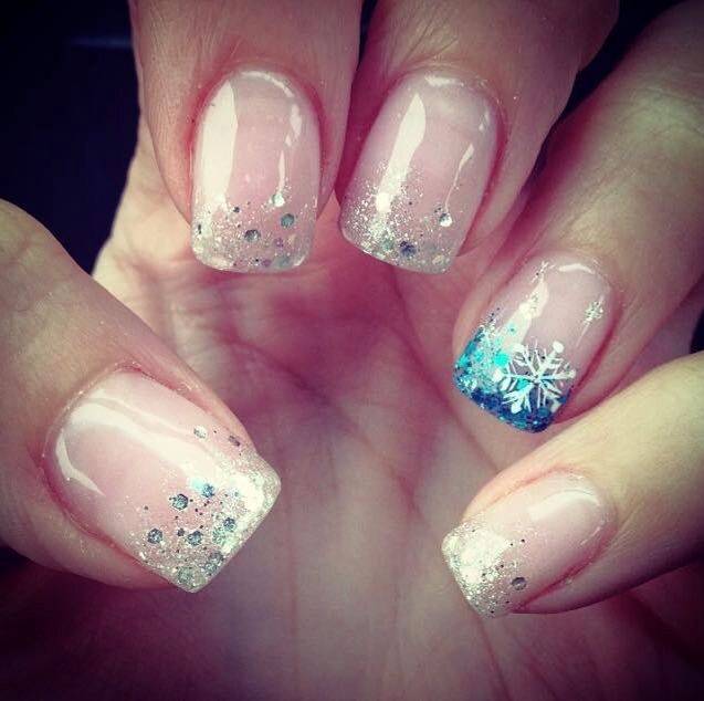 Christmas frozen nails