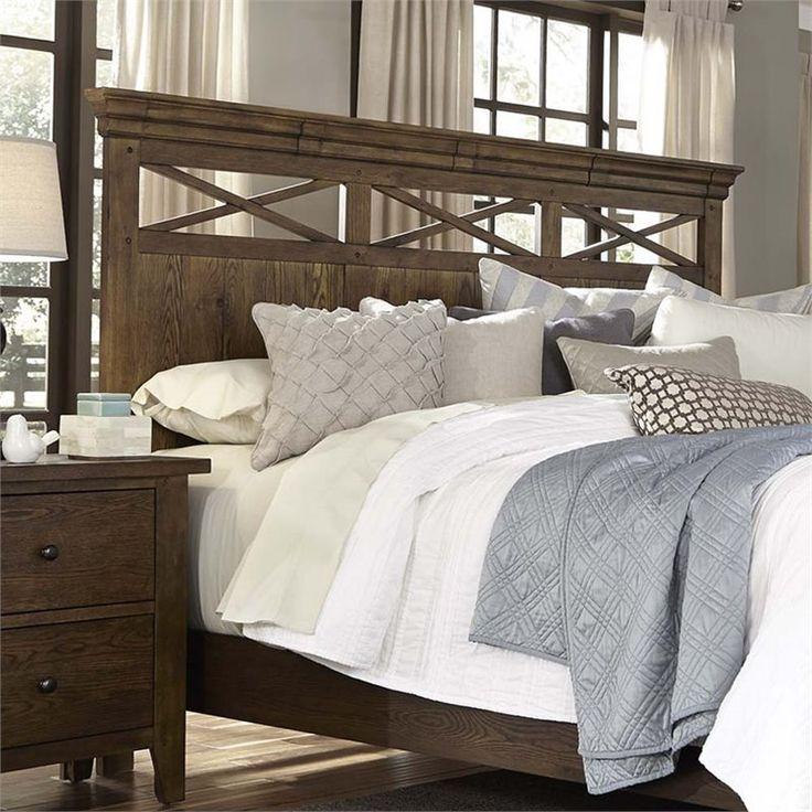 Lowest price online on all Liberty Furniture Hearthstone Queen Panel Headboard in Rustic Oak - 382-BR13