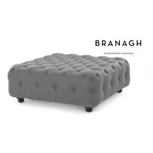 Branagh Large Footstool in pearl grey | made.com For formal lounge