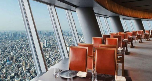 Restaurantes espectaculares: Sky Restaurant 634 (Tóquio, Japão)