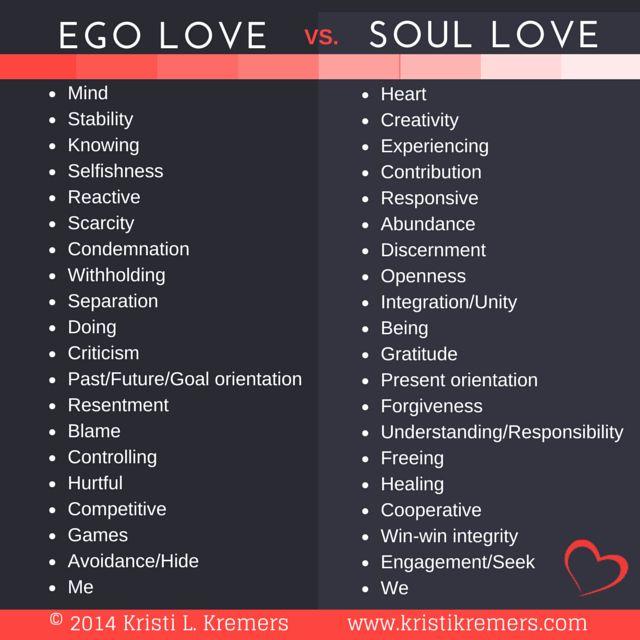 ego love vs soul love