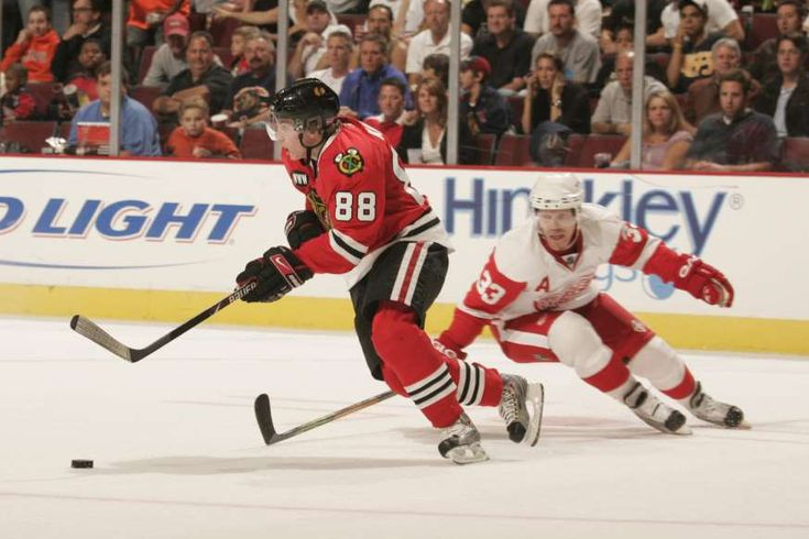 100th anniversary of the NHL - November 20, 2017:  Patrick Kane -  Kane was drafted No. 1 overall by the Chicago Blackhawks in 2007. During his rookie campaign he scored at a torrid pace eventually beating out teammate Jonathan Toews for the Calder Trophy for rookie of the year. Kane is the first American-born player to win both the Art Ross scoring title and the Hart Memorial Trophy (league MVP), winning both awards and the Ted Lindsey (outstanding player voted by...  MORE...