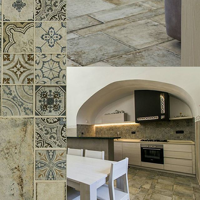 Today's project is an ancient #manorfarm near Bari: the #architect chosen #Terrenuove collection for the flooring. Really lovely, don't you think?  #ProjectOfTheDay #TuesdayProject #tradition #historical #project #house #villa #CeramicaSantAgostino #aroundtheworld #archilovers